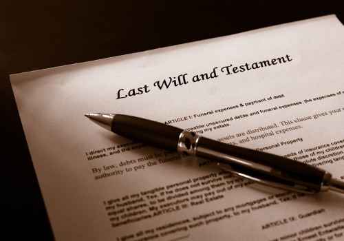A last will, as part of Probate Law in Galesburg IL
